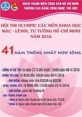 Hoi thi Olympic cac mon KH Mac-Lenin 2016 cap truong